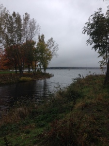 Beautiful inlet surrounding the Y with walking trails and benches.