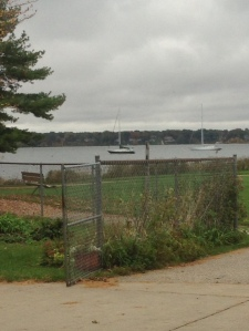 Sailboats still moored late  in the season--hope they can sneak in a few more outings to enjoy the fall color by water!