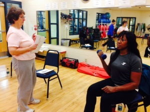 Dawn (L) & Teresa review Fitness Checks