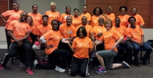 Kristie King (kneeling L of center) w/ NKFM colleagues at the Enhance®Fitness Statewide Conference
