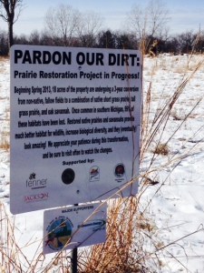 Prairie restoration underway with the support of several partners.