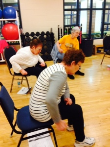 Instructors review upper back strengthening
