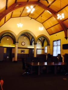 Interior architecture of the restored train depot
