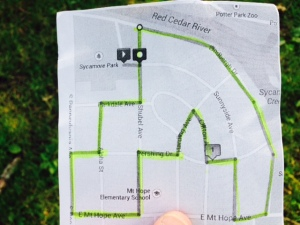 Sycamore Park walking tour covering a part of every street in the neighborhood.