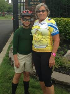 H and Gma bike ride
