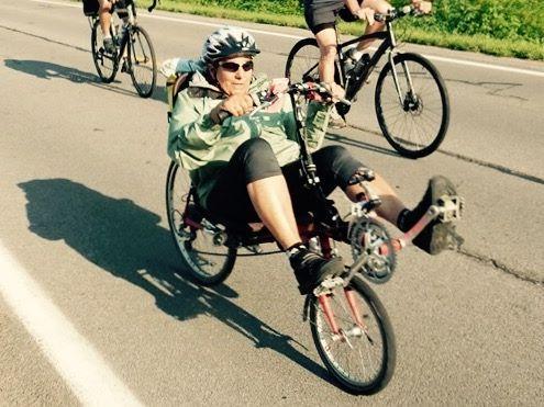 mom on bike